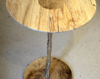 Table - Spalted Beech and Oak Pedestal Table