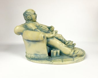 Georgia Marble Limited Edition Couch Potato Statue No. 75 of 3,000