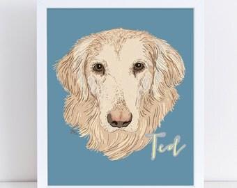 Custom Pet Portrait (SINGLE PET)