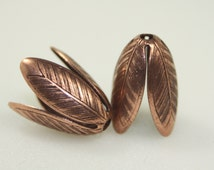 Bead Cones, Copper Plated Brass, 20x14mm