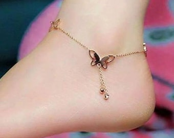 Butterfly Ankle Bracelet