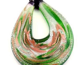Murano Lampwork Glass Pendant Necklace