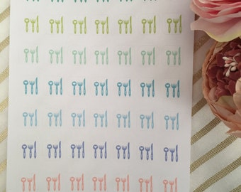 Cutlery - meal planning stickers
