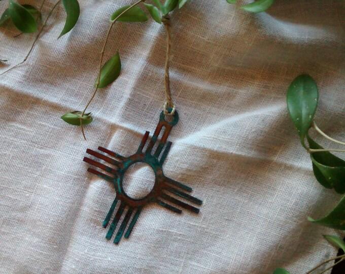 Patina Zia Ornament