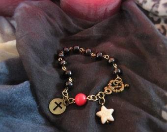 Beaded Toggle Charm Bracelet