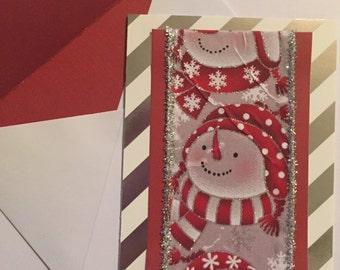Snowman Greeting Card Set of 4