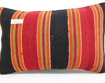 stripe kilim pillow decorative kilim pillow 12x20 lumbar kilim pillow throw pillow ethnic pillow home decor cushion cover SP3050-429