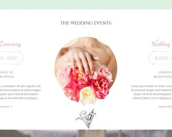 Personalized wedding website, wedding invitation website, engagement website design - domain name and hosting included!