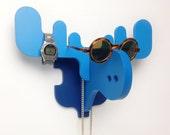 The MOOSE Blue / Wall Organiser / Glasses, watches, jewelry holder / Deer antlers / Moose antlers / Elk antlers / Ålg / by RAGI RAGI studio