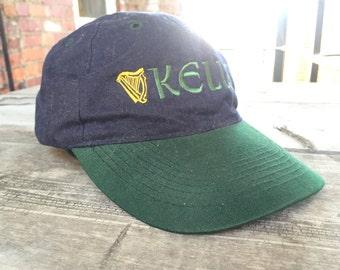 """Purple and Green 90s """"Kells"""" Low Profile Hat Irish Pub"""