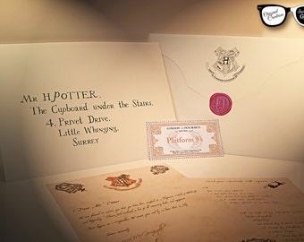 Harry Potter - Lettre d'admission à Poudlard personnalisée - coffret cadeau - 2 langues au choix