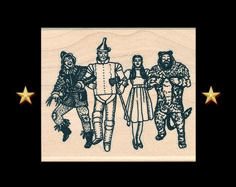 WIZARD OF OZ Rubber Stamp – Yellow Brick Road, Tin Man, Scarecrow, Toto, Dorothy, Oz, Off To See The Wizard, Not In Kansas Anymore