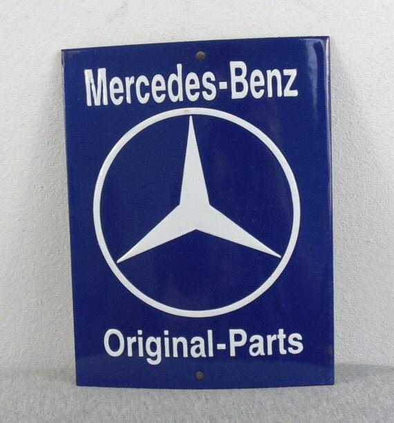 Vintage 1970s advertising mercedes benz service original parts for Mercedes benz original parts
