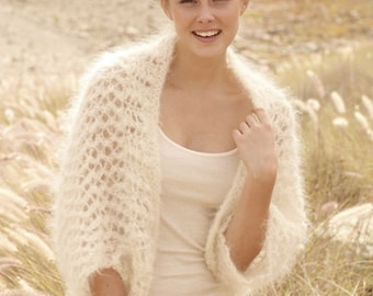 Bolero-knit bolero, bridal bolero, feather light, mohair super kid/Silk