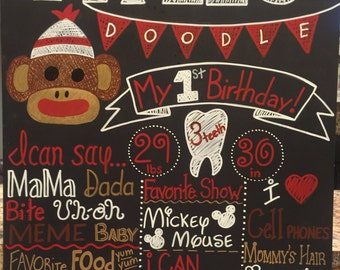 Custom birthday chalkboard
