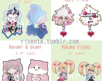 Super Danganronpa 2 Keychains - Gundam, Komaeda, Nanami, Hiyoko