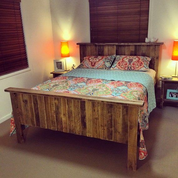queen size solid rustic pallet bed shipping not included