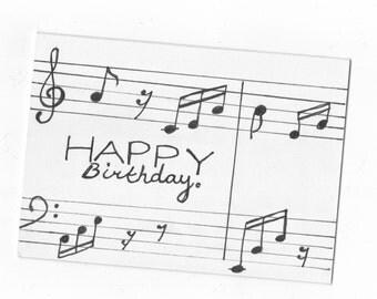Happy Birthday Card - Musical