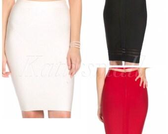 Bodycon pencil skirt , black skirt, red skirt , white skirt, party skirt