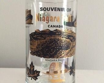 SALE Souvenir Niagara Falls Glass with a Handle