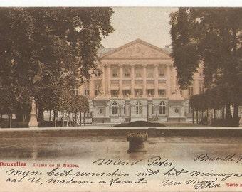Post Card Bruxelles Palais de la Nation