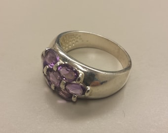 Sterling SIlver .925 Ring With Amethyst