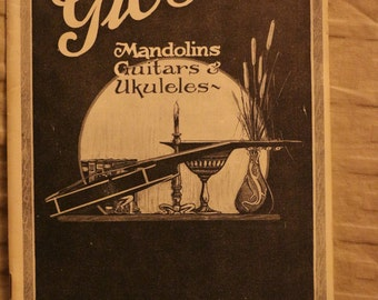 Gibson Guitars catalog REPRINT, 1927, by Mugwumps magazine, Reduced!