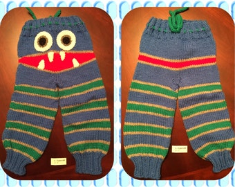 Handmade Knitted Inspired Monster Pants Made to Order - any color and size