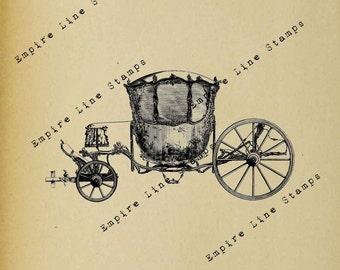 Marie Antoinette's Coach - Digital Download Image Transfer Pillow Burlap Iron-On Teeshirt Fabric Scrapbooking Digital Stamp