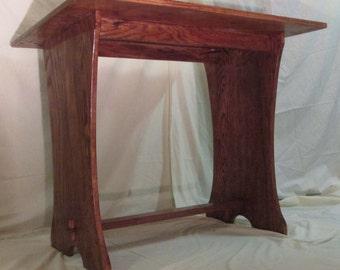 Handmade Red Oak Craftsman Table