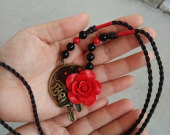 Chinese Jewelry - Rose Good fortune Necklace.