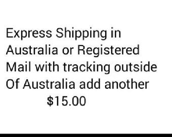 Express Post within Australia or overseas registered mail with tracking