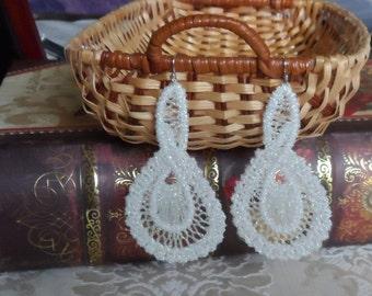 Romanian Point Lace Earrings - 207MW