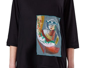 Copyright t-shirt limited edition hand painted