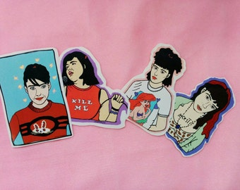 Kathleen Hanna sticker pack