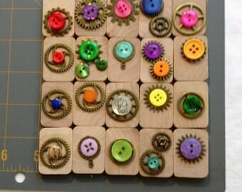 Creative Wooden Tiles, Craft Tiles, Craft Variety, Game Pieces, Craft Materials,