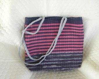 Woven Fabric Bag 15wx12hx3.5deep
