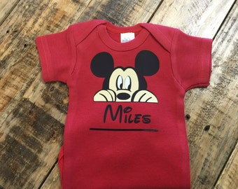 Personalized Mickey Mouse One Piece Creeper, Personalized Disney one piece creeper