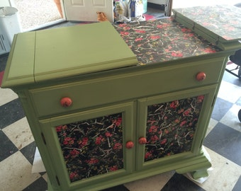 Floral buffet cabinet