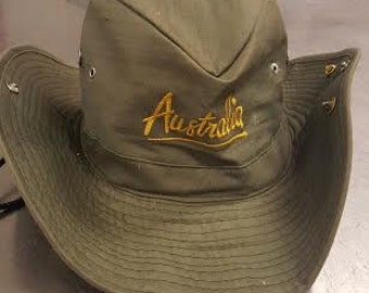 Vintage Classic Green Outback Safari Outdoor Australia Hat with Decorative Pins and Drawstring