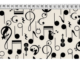 Westex fabric music with mice and cats. SK073