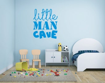 Little Man Cave wall decal - vinyl sticker, available in 25 colours