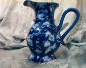 """Blue and white Pitcher 7"""""""