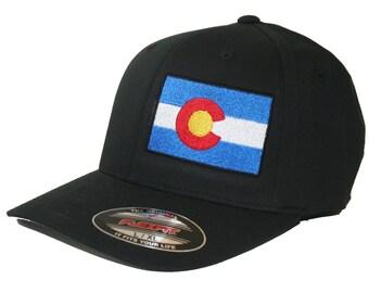 Colorado State Flag Hat Flexfit Curved Bill Cap Patriotic Flag s/m l/xl xl/xxl