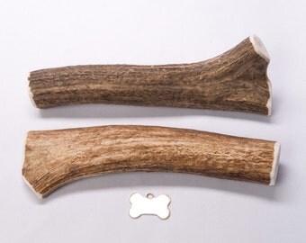 """X-Large """"Whole"""" Elk Antler Dog Chew"""