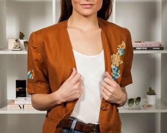 Vintage 1980s floral Kenzo City jacket