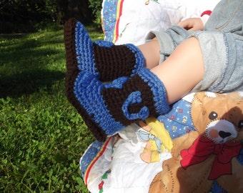 Crochet Baby boy cowboy booties