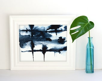 Abstract Indigo Print, Indigo Blue Print, printable wall art, downloadable prints, digital print, Indigo Print, Abstract Printable