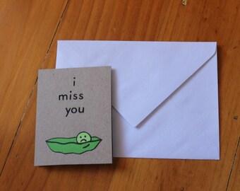 I Miss You - handmade card