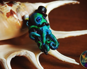"Bead for dreads ""Octopus"". Beads for dreadlocks. Dreads accessories."